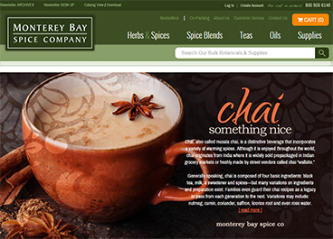 For Monterey Bay Spice Company we currently have 0 coupons and 0 deals. Our users can save with our coupons on average about $ Todays best offer is. If you can't find a coupon or a deal for you product then sign up for alerts and you will get updates on every new coupon added for Monterey Bay Spice Company.